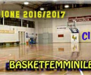 STAGIONE 2016/2017:  Il centro MiniBasket ed il settore giovanile e' pronto per un nuovo anno sportivo