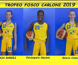 Fatoumata Ndiaye, Giulia Marsili e Giulia Cavalzani parteciperanno al Torneo Carloni 2019