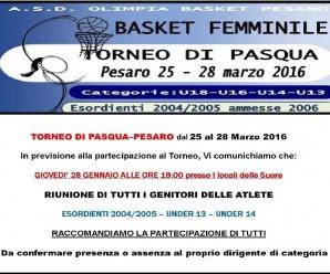 Torneo di Pasqua a Pesaro